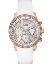 Guess W0616L1 Hyvät Sunrise valkoinen silikoni hihnan watch