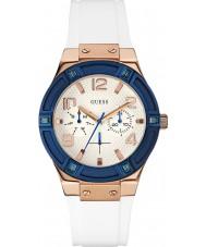 Guess W0564L1 Hyvät jet setteri valkoinen silikoni hihnan watch